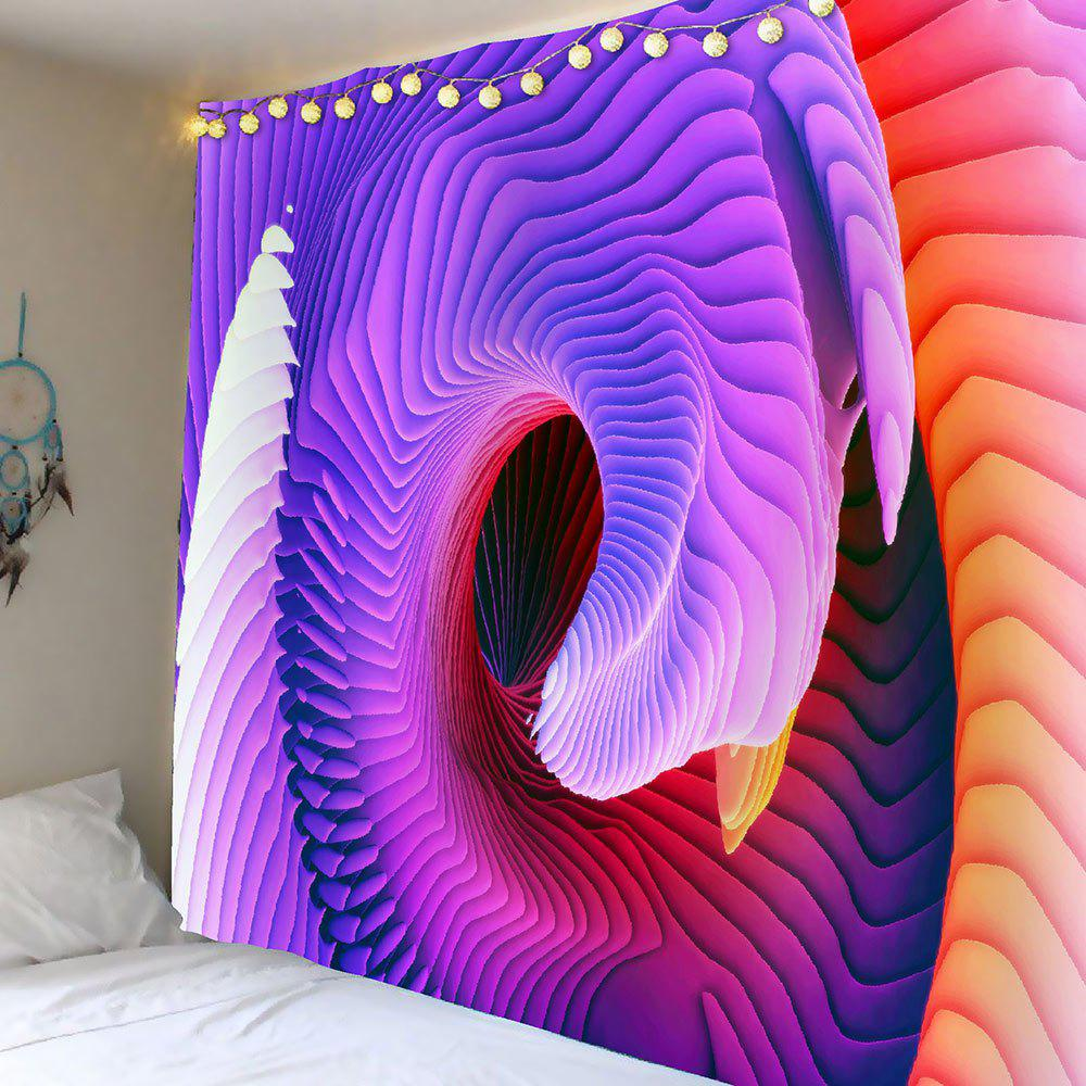 Home Decor 3D Psychedelic Ombre Waterproof TapestryHOME<br><br>Size: W79 INCH * L71 INCH; Color: COLORFUL; Style: Gothic; Material: Velvet; Feature: Removable,Washable; Shape/Pattern: Ombre,Print; Weight: 0.5000kg; Package Contents: 1 x Tapestry;