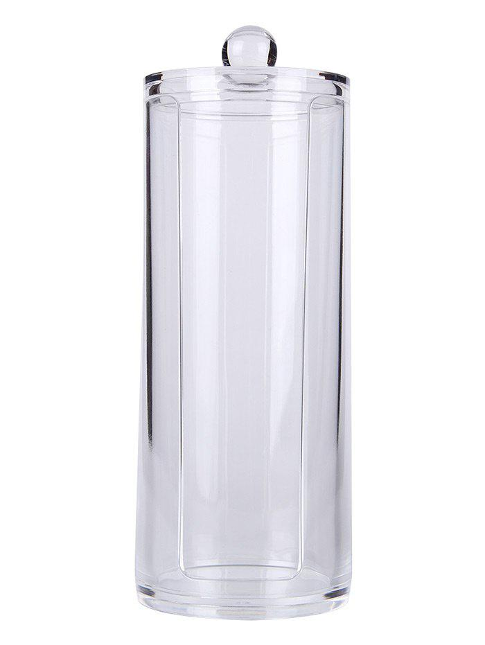 Cylinder Shaped Cosmetic Organizer Makeup Storage Bucket, Transparent