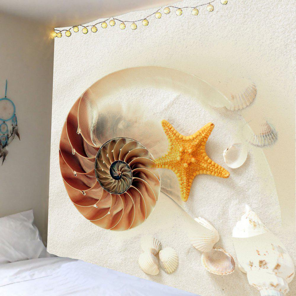 Cheap Home Decor Conch Starfish Print Wall Hanging Tapestry