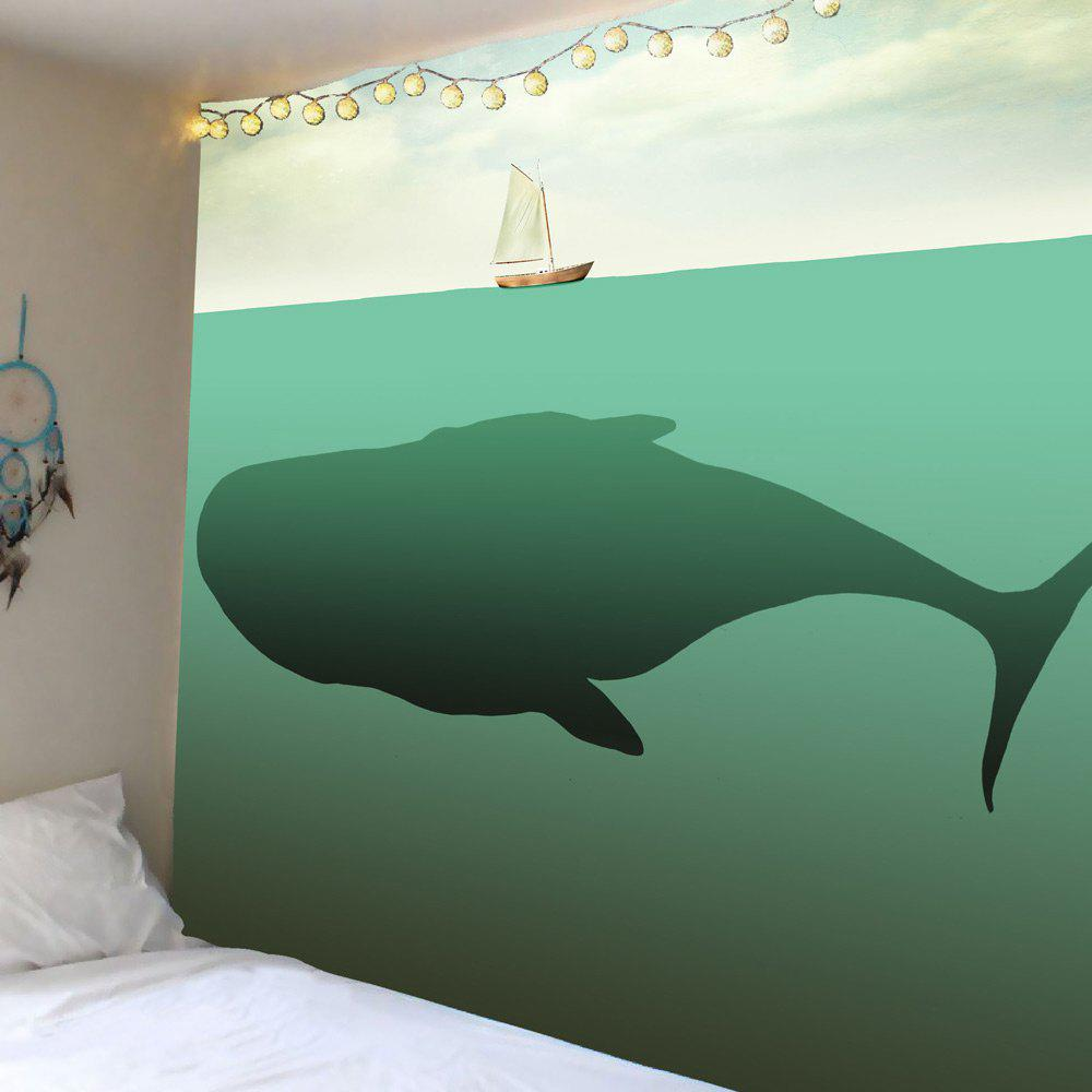 Fancy Home Decor Whale Boat Print Wall Hanging Tapestry