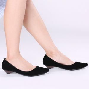 Shallow Mouth Low Heel Pumps - BLACK 37