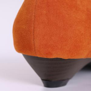 Shallow Mouth Low Heel Pumps - ORANGE YELLOW 39