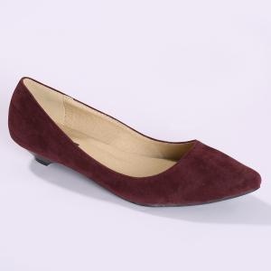 Shallow Mouth Low Heel Pumps -