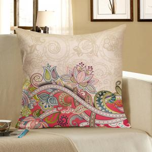 Floral Printed Home Decor Pillow Case