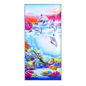 Ocean Beach Printed Polyester Fabric Bath Towel