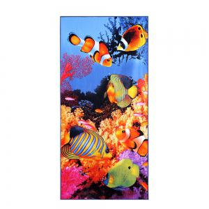 Sea World Printed Polyester Soft Bath Towel