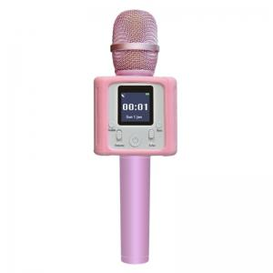 K3 Touch Screen Wireless Karaoke Microphone with Built-in Bluetooth Speaker - Pink - W54*l108inch