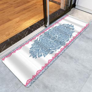 Extra Long Boho Mandala Nonslip Bath Rug -
