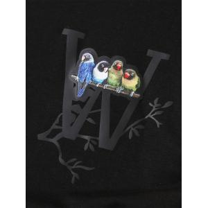 Short Sleeve Stretchy 3D Birds Print T-shirt -