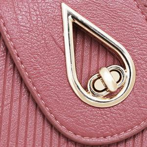 4 Pcs Line Embossed Handbag Set - PINK