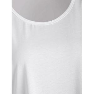 Plus Size Ombre Print Tank Top with Lace Trim - GRAY XL