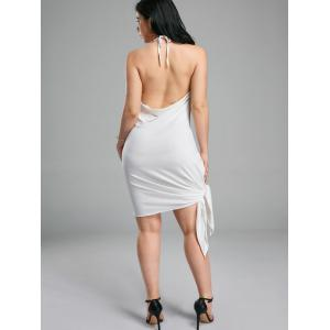 Halter Backless Club Mini-robe - Blanc XL