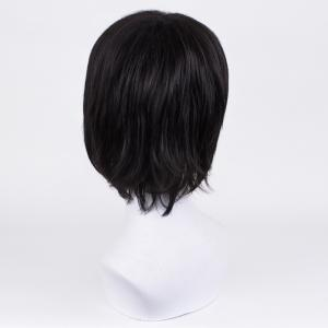 Short Center Part Straight Synthetic Wig -