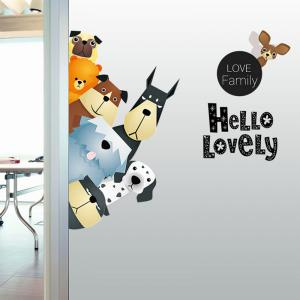 Animals Family Cartoon Vinyl Wall Sticker For Kids