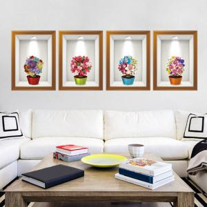 Photo Frame Flower Art 4Pcs/Set Wall Sticker