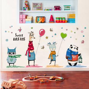 ... Cartoon Animal Wall Sticker Kids Room Decor ... Part 35