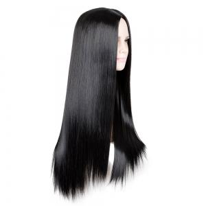 Long Center Parting Straight Cosplay Synthetic Wig -