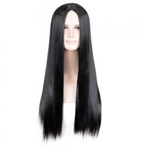 Long Middle Part Glossy Straight Cosplay Synthetic Wig