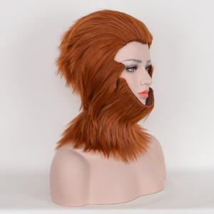 Short Layered Straight Fuzzy Sun Wukong Cosplay Synthetic Wig -