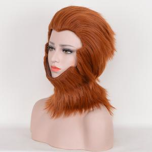 Short Layered Straight Fuzzy Sun Wukong Cosplay perruque synthétique -