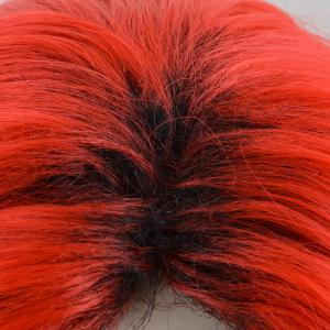 Short Center Part Colormix Shaggy Curly Cosplay perruque synthétique - Rouge
