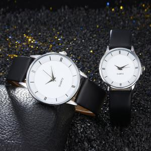 Minimalist Faux Leather Strap Couple Watches
