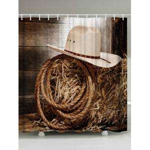 Vintage Cowboy Hat Rope Polyester Shower Curtain