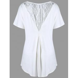 Plus Size Lace Insert High Low Tee
