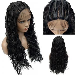Long Shaggy Free Part Water Wave Lace Front Synthetic Wig -