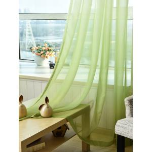 1PC Transparent Gradient Color Voile Window Curtain - GREEN W39 INCH * L98.5 INCH