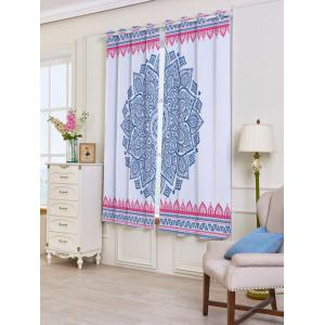 2 Panels Set Blackout Bohemian Mandala Window Curtains - Coloré Largeur53pouces*Longeur63pouces