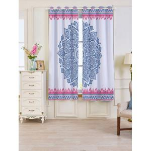2 Panels Set Blackout Bohemian Mandala Window Curtains - Colorful - W53 Inch * L63 Inch