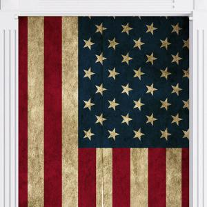 USA Flag Printed Decorative Door Curtain -