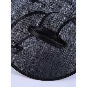 Ribbon Feather Cambric Cocktail Hat - BLACK