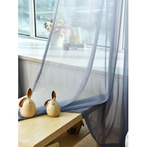 1PC Transparent Gradient Color Voile Window Curtain - Cendre Largeur39pouces*Longeur98.5pouces