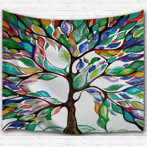 Tree of Life Fabric Dorm Wall Hanging Tapestry - Colormix - W59 Inch * L79 Inch