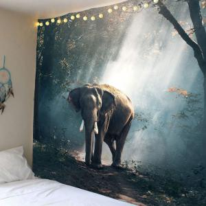 Home Decor Elephant in Forest Wall Hanging Tapestry