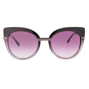Cat Eye Oversized Anti UV Sunglasses with Box - BLACK