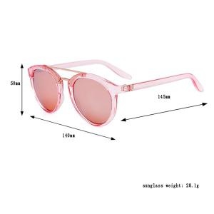 Anti UV Oversized Sunglasses and Box - PINK
