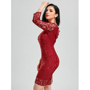 Backless Lace Tight Short Homecoming Dress - RED M