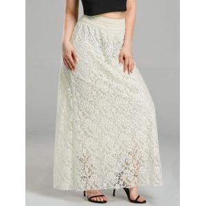 Maxi High Waist Lace Skirt