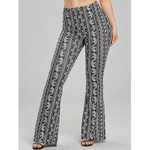 Elephant African Print Flare Pants