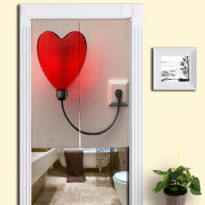 Heart Shaped Balloon Light Print Home Door Curtain - Colormix - W33.5 Inch * L47 Inch