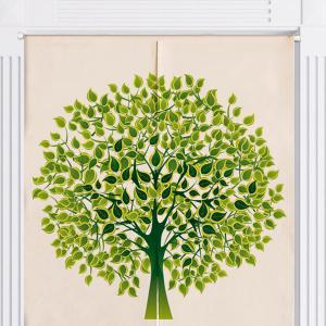 Tree Pattern Home Product Artistic Door Curtain - GREEN W33.5 INCH * L35.5 INCH