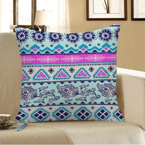 Chic Floral Geometric Printed Home Decor Pillow Case - 45*45CM COLORFUL Mobile