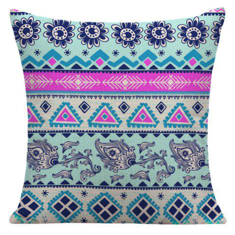 Affordable Floral Geometric Printed Home Decor Pillow Case - 45*45CM COLORFUL Mobile