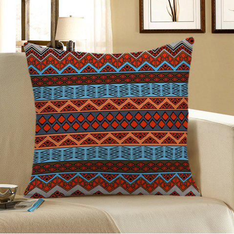 Home Decor Bohemian Geometric Print Pillow Case - Colorful - 45*45cm