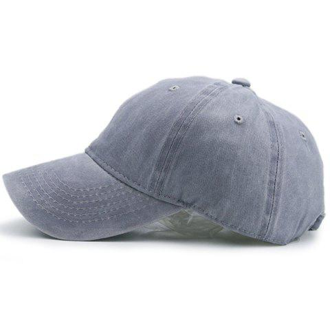 New Nostalgic Baseball Lines Embroidery Cap GRAY