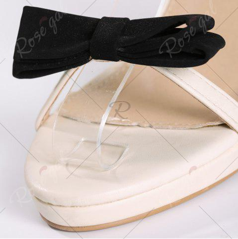 Buy Bowknot High Heel Sandals - 39 APRICOT Mobile
