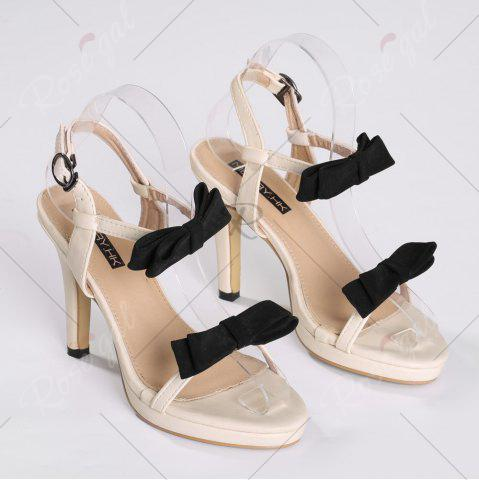 Outfit Bowknot High Heel Sandals - 39 APRICOT Mobile